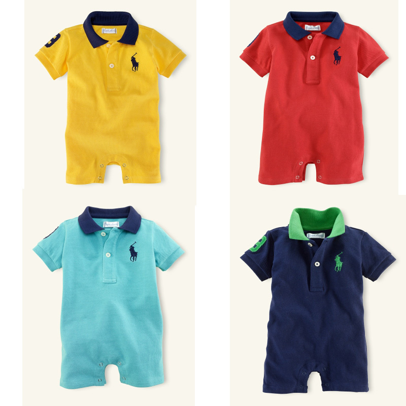 Summer Baby Boys&girls Overall Cotton Sport Jumpsuits Short-sleeve Polo Baby Rompers Infantile Baby Clothing(China (Mainland))