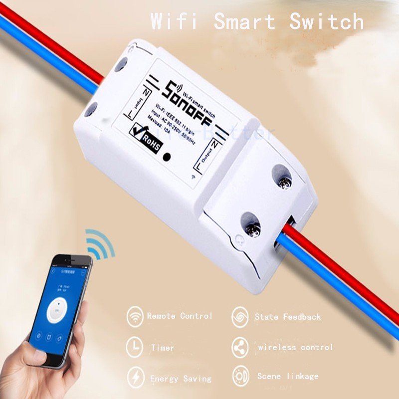 image for Sonoff Smart Remote Control Wifi Switch Smart Home Automation/ Intelli