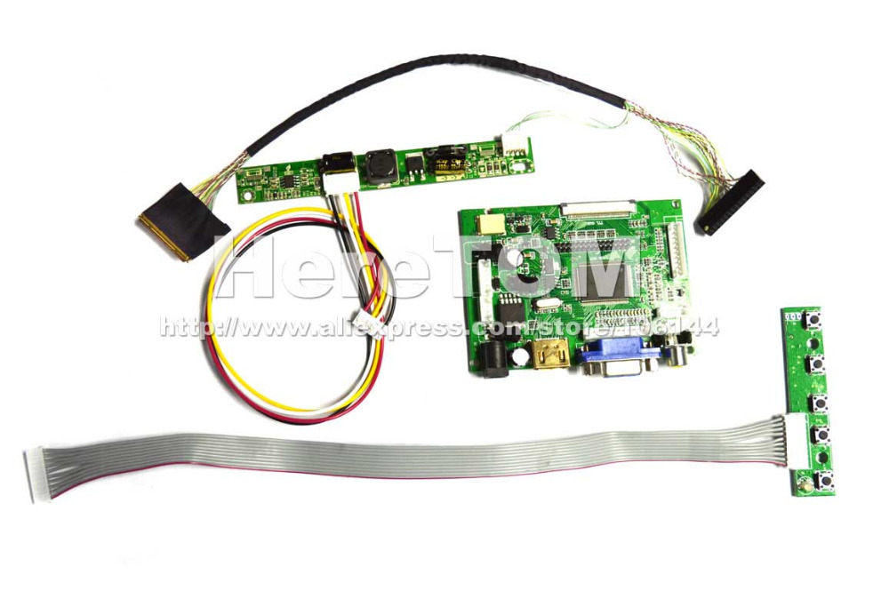 HDMI+VGA+Audio+2AV Controller Board Driver PCB800099 for B101UAN02.1 1920*1200 + LVDS Cable + Keyboard + Inverter(China (Mainland))