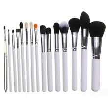 Pro 15Pcs Facial Makeup Brushes Kit Fiber Face Eyes Blush Brush Set Women Beauty DIY Tools High Quality Free Shipping