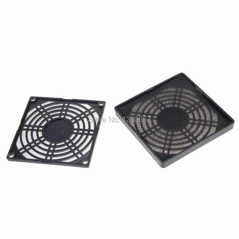 5 Pieces LOT Guard Black Plastic Dustproof Filterable 90mm Computer Fan Filter(China (Mainland))