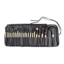 24Pcs/set Eyeshadow Powder Brush Set Cosmetic Makeup Brush Tool Kits with Black Leather Case wholesale sale