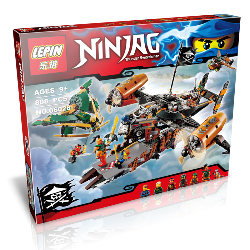 LEPIN 06028 80Ninja Misfortune's Keep Model Building Kits Minifigure Action Figures Jay Lloyd Kai Nadakhan Blocks Brick Toy