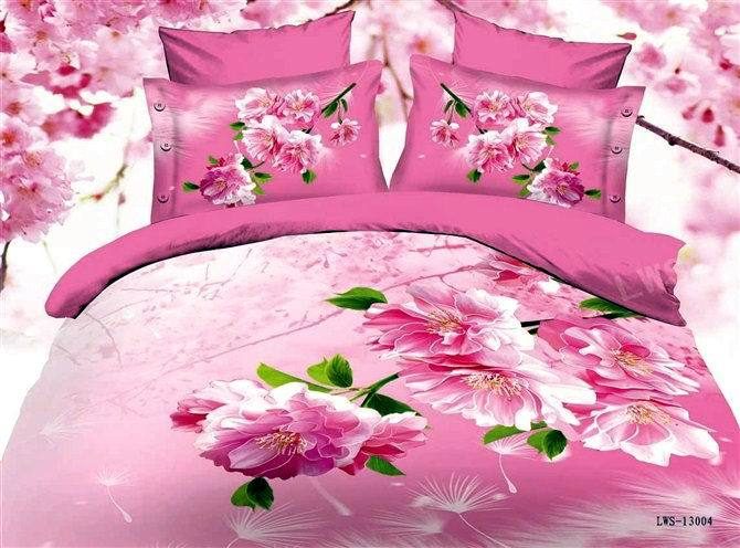 Rosa peon a impresa flor reina edred n del duvet cubre for El universo del hogar ropa de cama