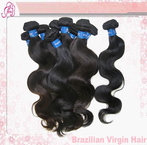 Free Shipping Queen Hair Products 10pcs/1kg 12-30inch Brazilian Virgin Hair Body Wave Extensions Wholesale Natural Color<br>