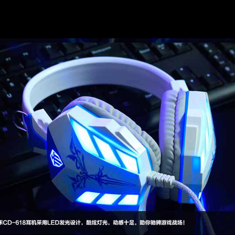 2016 Brand Cosonic Gaming Headphone USB + 3.5mm Gaming Headset Earphone with Microphone Noise Canceling LED Light for PC Gamer