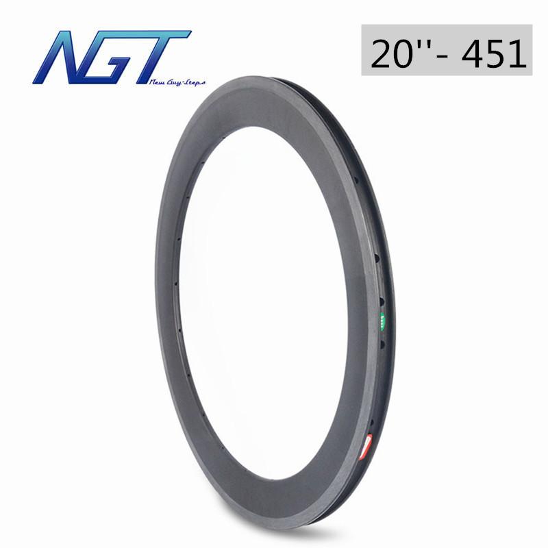 451 Carbon Bike Wheel 16-36 Holes Clincher Bicycle Wheels folding Bike Wheels bmx 20 rims 38mm 451 best Performance For Riders(China (Mainland))