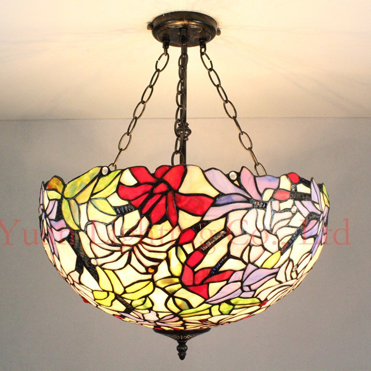 Factory direct 50CM Southeast Asian style Tiffany lamp 20 inch garden living room dining room chandelier anti shops(China (Mainland))