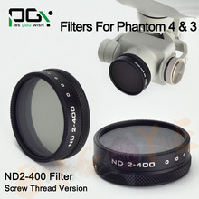 2016 NEW PGY Camera Lens Filter ND2-400 Filter for DJI Phantom 4 DJI Phantom 3 Professional Advanced