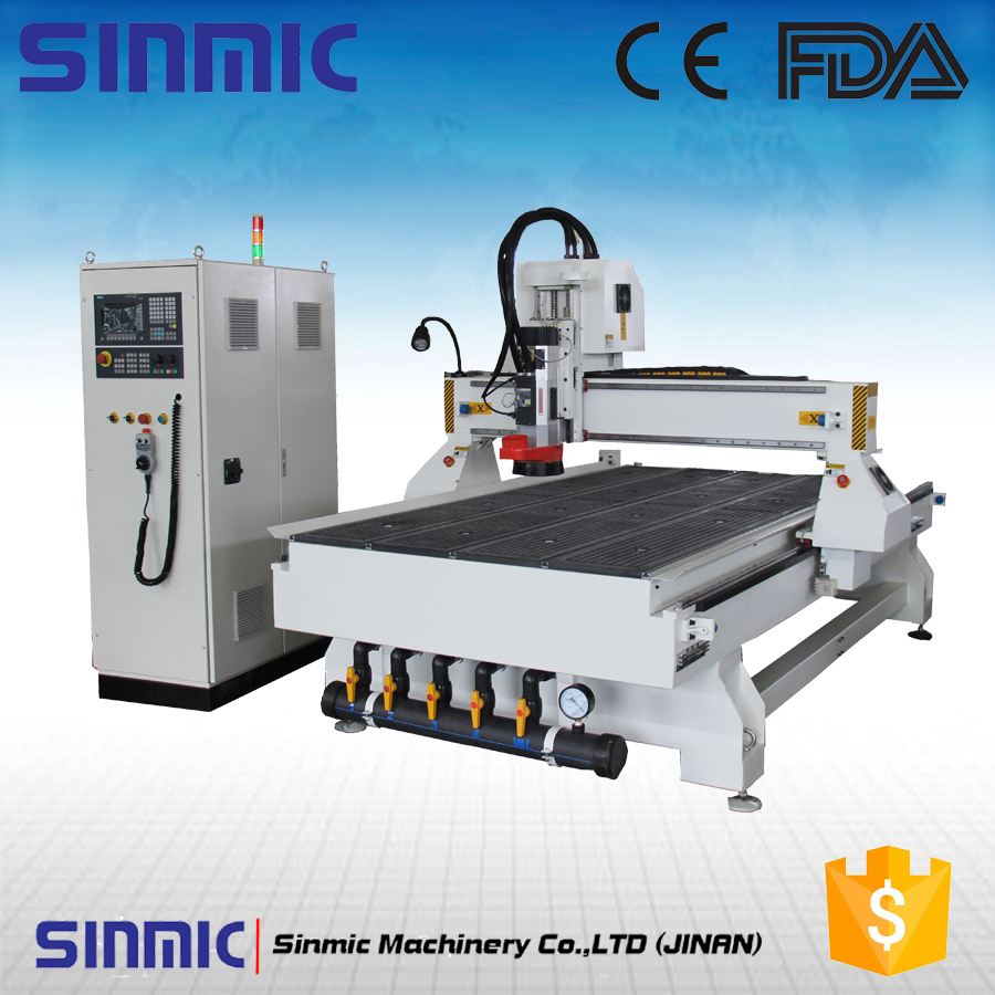 Linear 8 automatic tool changer 1325/1530 ATC wood cnc router for Furniture / Kitchen / Accessories / Office Supplies(China (Mainland))