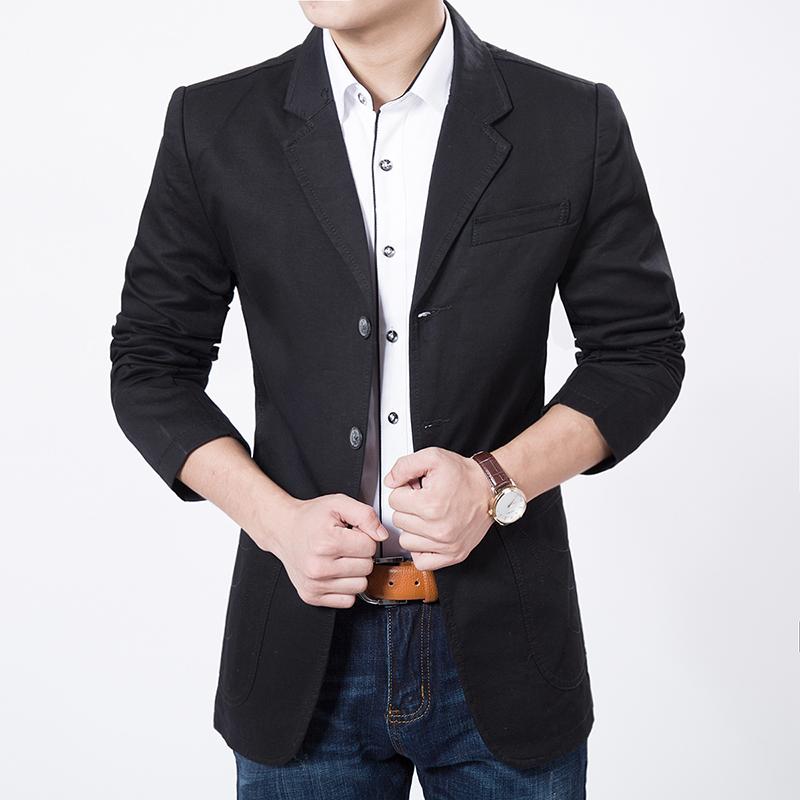 100% good High Quality 2016 autumn New Fashion Cotton Slim Plus Size 4Xl 5XL 6Xl Korea Style Suit Male Jacket Blazer Men(China (Mainland))