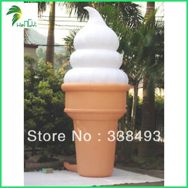 Free shipping guangzhou china 2 meter (6.56foot) Inflatable ice cream cones(China (Mainland))