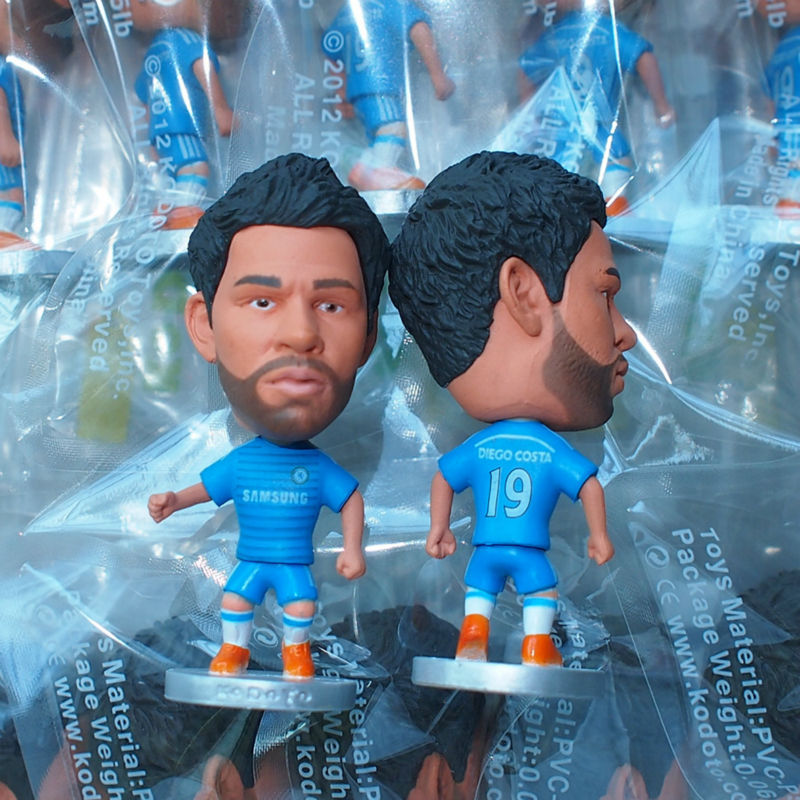 KODOTO Soccer Doll 19# DIEGO COSTA (C) x 10pcs Wholesale (Global Free shipping)(China (Mainland))