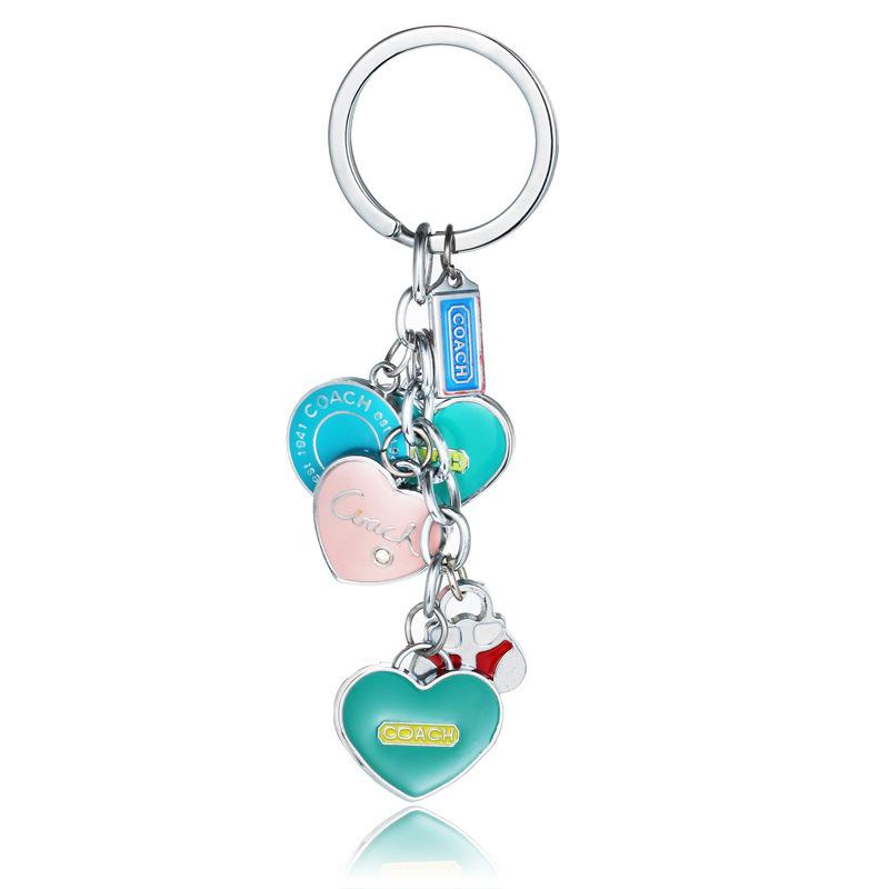 FREE SHIPPING by FEDEX 100pcs/lot 2015 Fashion Enamelled Woman Metal Heart Keychains Zinc Alloy Heart Shaped Keyrings(China (Mainland))