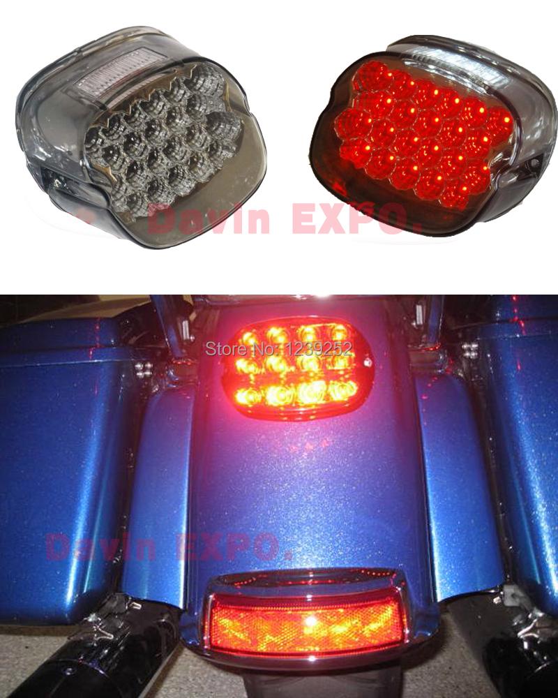 "NEW Smoke Motorcycle Lens tail brake LED light For 99""-09"" Harley Davidson motorcycle stop lamp XL FX #(China (Mainland))"