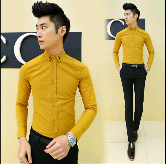 collection of yellow dress shirts for men best fashion