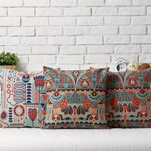 Nordic Geometry Bohemia Stripes Linen pillow cushion