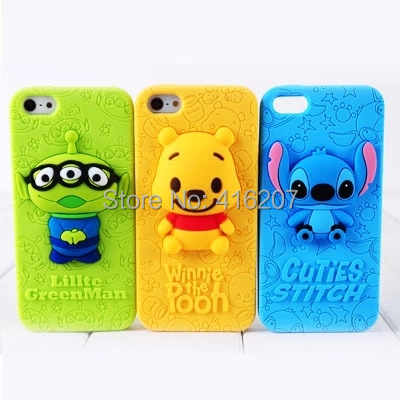iphone 5 5s cases Stitch winnie pooh lillte greenman cell phone covers - Super cheap, More click here! store