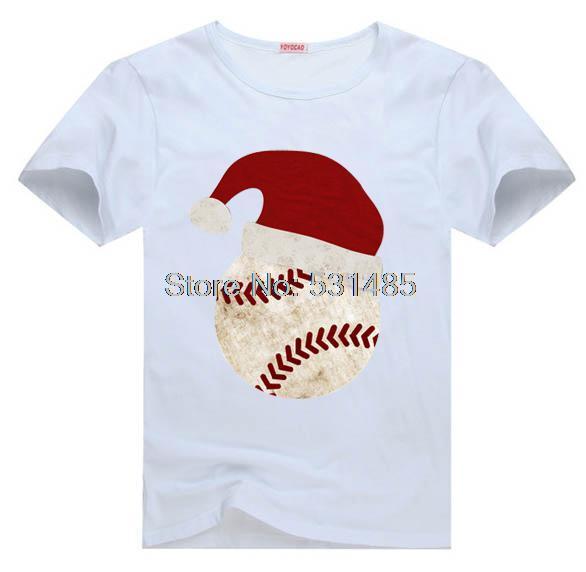 Christmas Santa Baseball Baby Holiday Outfit Tee t shirt for kid Boy Girl clothing top clothes cartoon tshirt Dress(China (Mainland))
