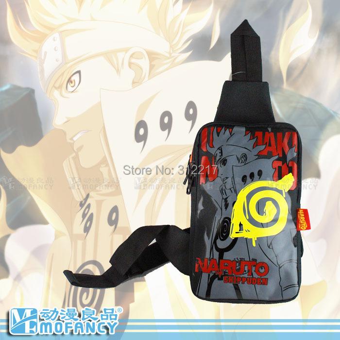 Naruto Messenger Bag High Quality Nylon School Bag Anime Shoulder Bag Anime Product Free Shipping(China (Mainland))