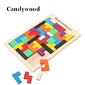 Kids Toys Wooden Tangram P Brain Teaser Puzzle Tetris Game Educational Baby Child Kid Toy Free
