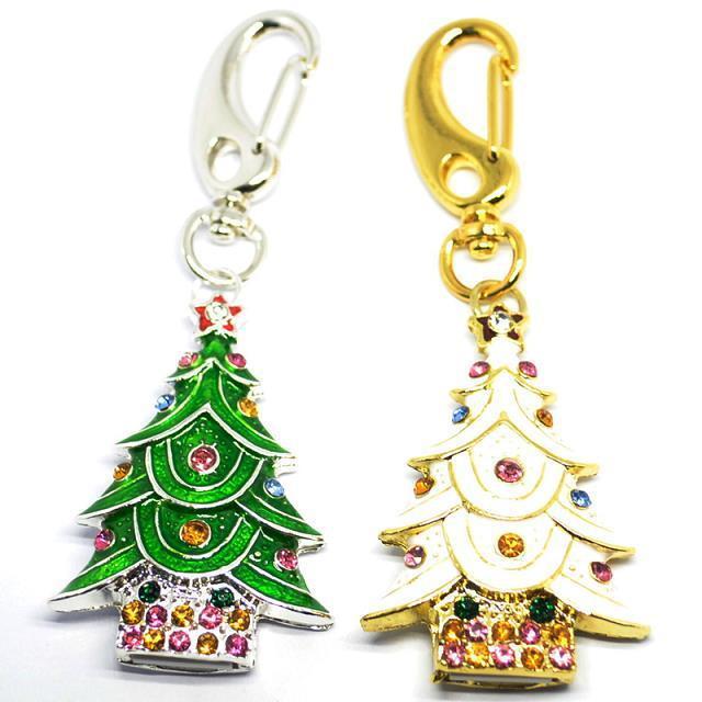 Christmas Tree Metal Chrome USB Flash Drive Pen Drive Pendrive Memory Stick Card 2GB 4GB 8GB 16GB 32GB 64GB Christmas Gift(China (Mainland))