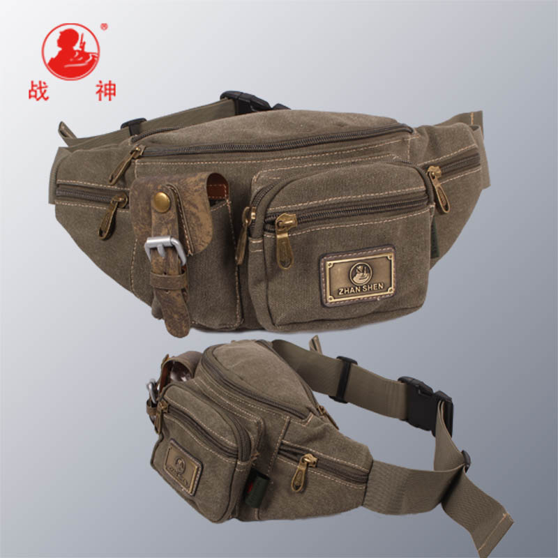 [God of War] 2013 waist pack travel storage bag multifunctional bag ride casual canvas waist pack(China (Mainland))