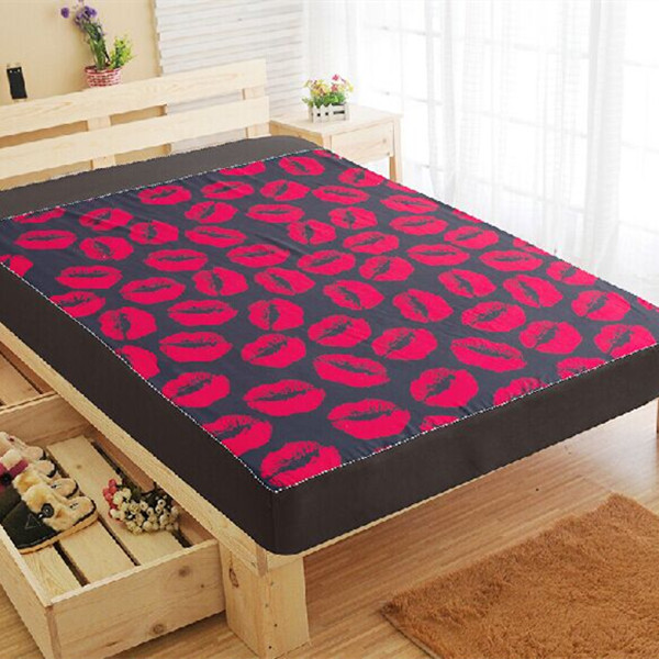 full queen king size kiss printed adults bed cover fitted