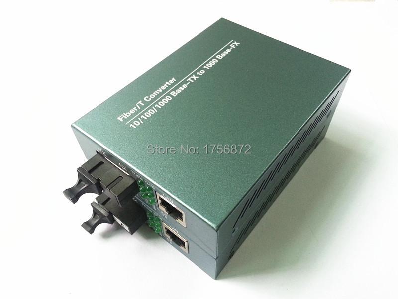 Gigabit Single-mode single-fiber fiber media converter optical transceiver RJ-45 1000M Ethernet Telecom Grade 1 pair 1 Channel(China (Mainland))