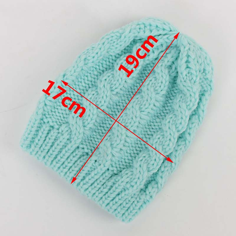 2016 New Arrival Baby blue Wool Hat Exported To Europe Warm Winter Baby Set of Head Cap Hats Cable Knit Beanie Sm all(China (Mainland))