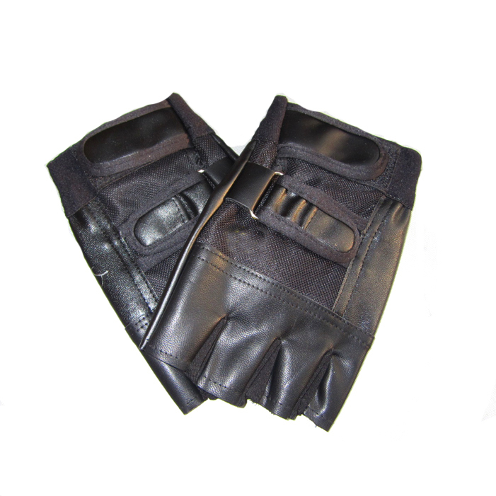 Fashion Genuine Leather Tactical Gloves Outdoor Sports Motorcycle Driving Racing Luvas half Fingerless Mittens For Men(China (Mainland))
