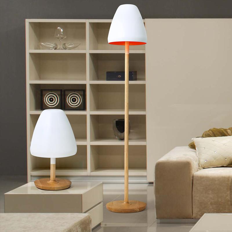 Jane European Ikea White Lampshade Creative Wood Bedroom