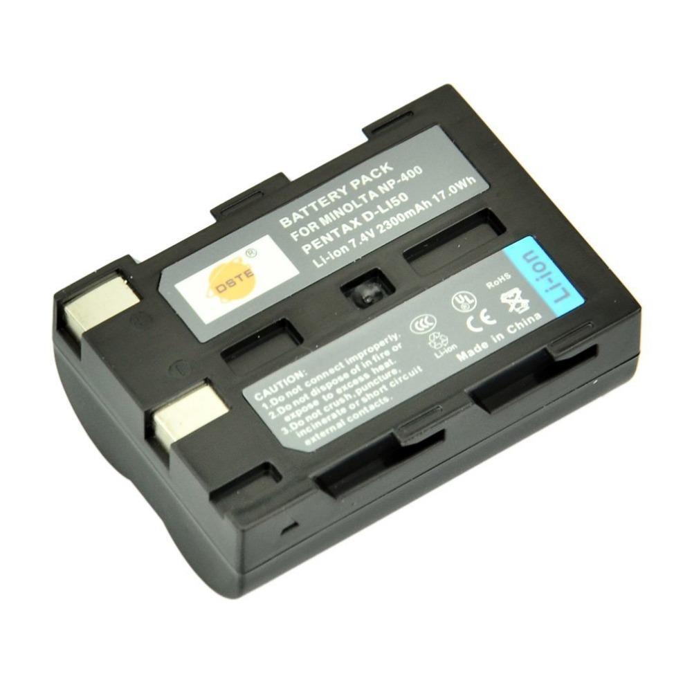 DSTE NP-400 NP400 Battery Pack for Konica Minolta A-5 A-7 Digital Dimage A1 A2 Dynax 5D 7D Maxxum 5D 7D Camera as Pentax D-LI50<br><br>Aliexpress
