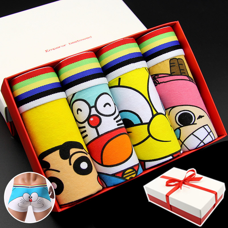 Cartoon Characters Underwear : Top quality cotton cartoon mens panties boxers underwear
