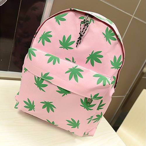 2015 Fashion Hotsale New Travel Girl Womens Canvas Campus Backpacks Leaves Printing Casual Student School Book Shoulder Bags(China (Mainland))