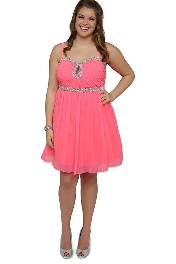 ... -CHiffon-Big-Size-Women-Evening-Gown-Beading-Plus-Size View Image