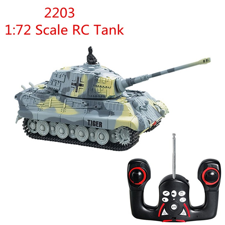 2016 New Great Wall 2203 1:72 Scale 4CH Mini RC Tank Radio Remote Control Simulation Tanks Model Toy Kids Christmas Gift