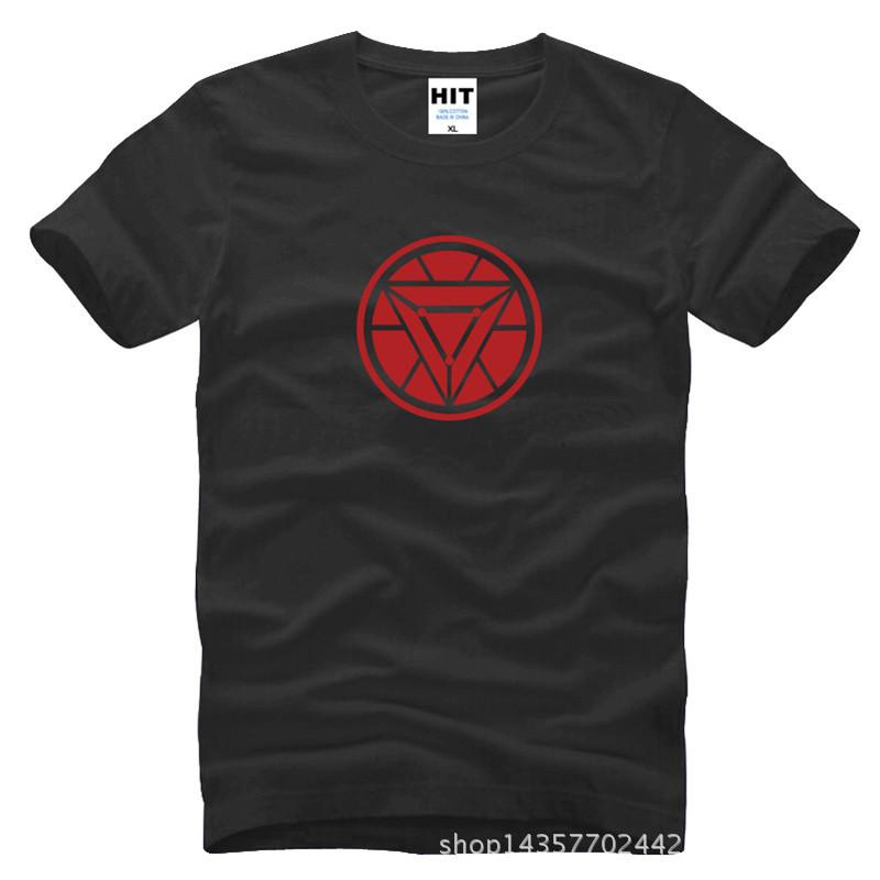 Iron Man Sound Activated Tony Stark Blacks Printed Mens Men T Shirt Tshirt Fashion 2015 New Cotton T-shirt Tee Camisetas Hombre(China (Mainland))