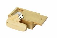 Free shipping 32GB  Wood rotation u disk USB 2.0 Flash pen drive memory card car key + Free wooden box