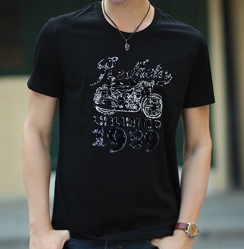 [ANYTIME] Brand Bike Fashion Short-sleeved Designer Tops & Tees Casual T-shirts, Men's Clothing Stylish t shirt PEDIDO CAMISETAS