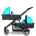 High Quality Aluminum Alloy Twin Baby Stroller Can Sit Lying Pram Twins Shockproof Folding Kinderwagen Baby