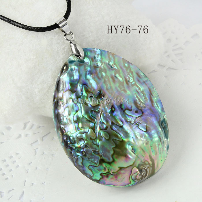 Free Shipping 1pcs 76-76 Fashion Jewelry Natural New Zealand Abalone Shell Pendant(China (Mainland))