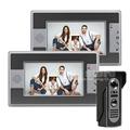 DIYSECUR Wired 7 inch Color Video Door Phone Intercom Doorbell Home Security Waterproof IR Night Vision