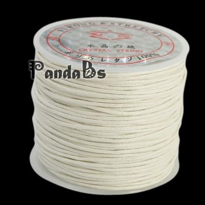 White Korean Wax Polyester Cord String Cord, 1mm; about 25m/roll(China (Mainland))