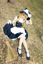 Anime TouHou Project Cosplay Costume Kirisame Marisa Maid Black and White COS Cloth Halloween Costumes for Women