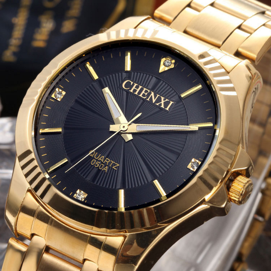 2016 Watches Men Chenxi Luxury Brand Fashion Casual Sports Men Quartz Gold Watch Full Stainless Men Reloj Clock Wristwatches