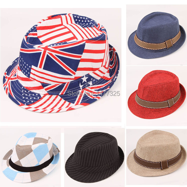 Hot Sale Fashion Baby Kids Hat Jazz Hat Toddler Boy Girl Cap Photography Top Cotton Trilby(China (Mainland))