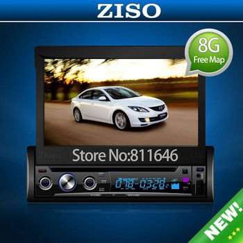UNIVERSAL 7 INCH 1Din CAR STEREO VIDEO DVD PLAYER WITH  BLUETOOTH GPS Navigation