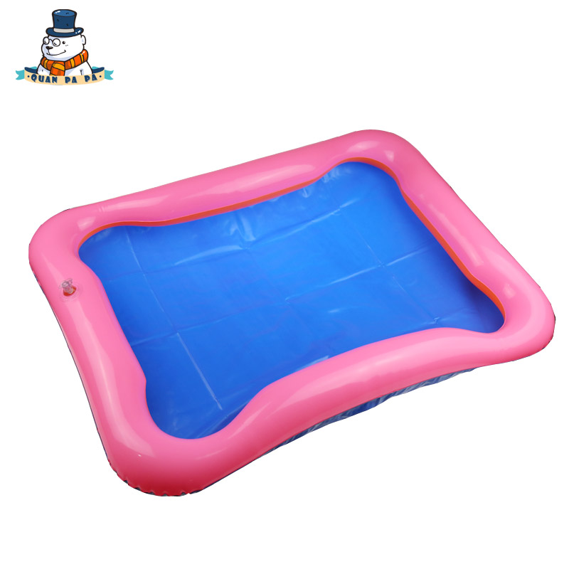 New Hot child Sand Sculpture Sand table Inflatable Sand Tray Plastic Mobile Table Baby Toy Inflatable cushion(China (Mainland))