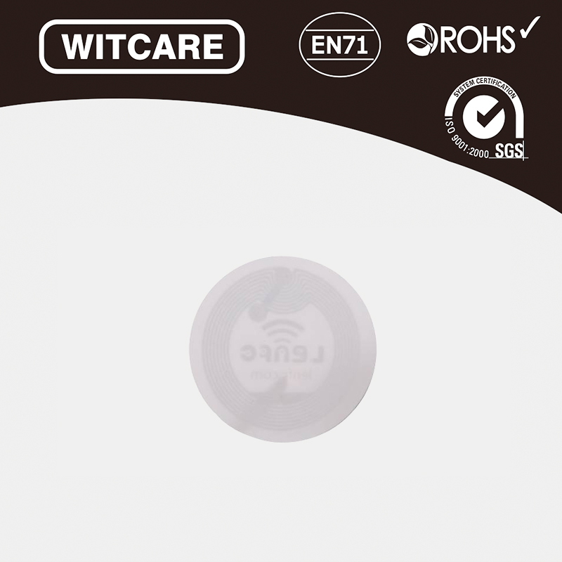 27mm Diameter Ntag 216 888 bytes NFC White Tag Sticker * 100pcs/lot * Free Shipping<br><br>Aliexpress